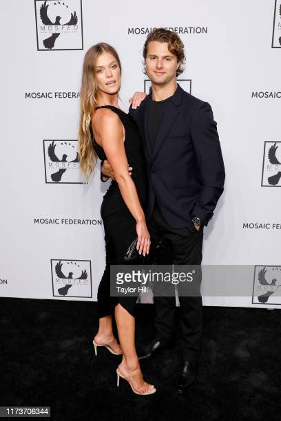 Nina Agdal and Jack Brinkley Cook attends the Mosaic Federation Gala Against Human Slavery on September 10 2019 at Cipriani 42nd Street in New York...