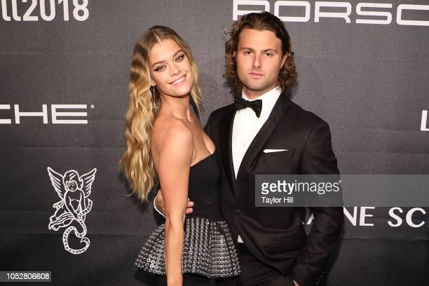 Nina Agdal and Jack BrinkleyCook attend the 2018 Angel Ball at Cipriani Wall Street on October 22 2018 in New York City