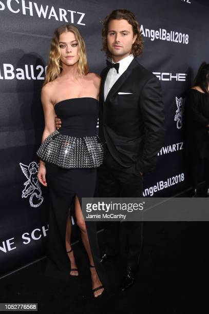 Nina Agdal and Jack BrinkleyCook attendthe 2018 Angel Ball hosted by Gabrielle's Angel Foundation at Cipriani Wall Street on October 22 2018 in New...