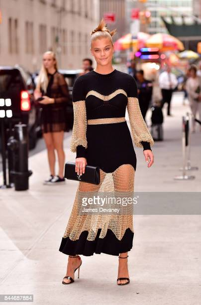 Nina Agdal arrives to the Daily Front Row's Fashion Media Awards at Four Seasons Hotel New York Downtown on September 8 2017 in New York City