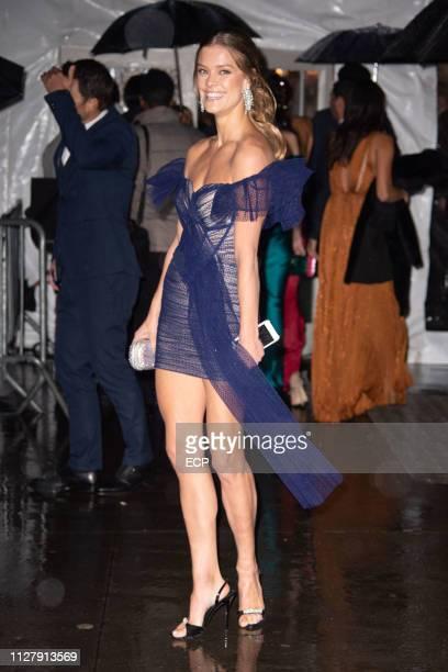 Nina Agdal at the amfAr Gala held at Cipriani Wall St on February 6 2019 in New York City