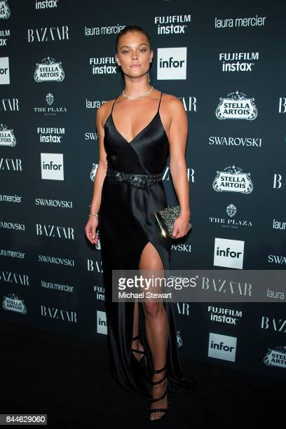 Nina Agdal attends 2017 Harper's Bazaar Icons at The Plaza Hotel on September 8, 2017 in New York City.