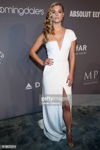 Nina Agdal attends 2018 amfAR Gala New York Arrivals at Cipriani Wall Street on February 7 2018 in New York City