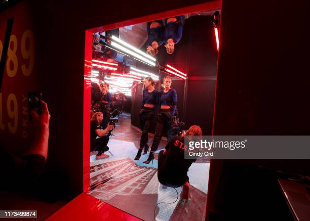 Nina Agdal attends as DKNY turns 30 with special live performances by Halsey and The Martinez Brothers at St Ann's Warehouse on September 09 2019 in...