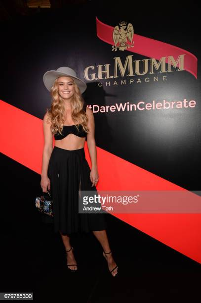 Nina Agdal attends GH Mumm and Usain Bolt's Toast to the Kentucky Derby on May 6 2017 in New York City