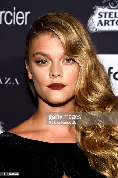 "Nina Agdal attends Harper's Bazaar's celebration of ""ICONS By Carine Roitfeld"" presented by Infor, Laura Mercier, and Stella Artois at The Plaza..."