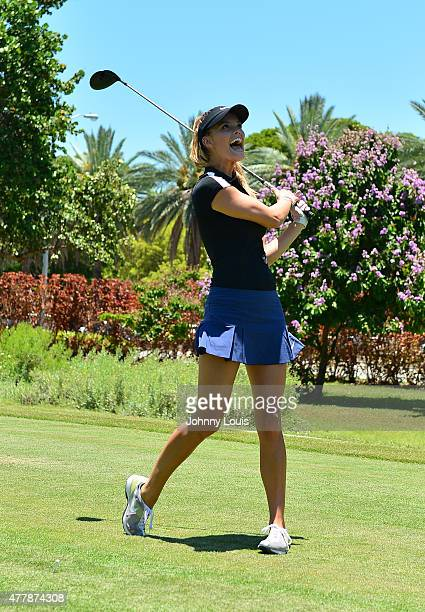Nina Agdal attends JEEP 11th Annual Celebrity Golf Tournament during The 11th Annual Irie Weekend at Miami Beach Golf Club on June 19 2015 in Miami...