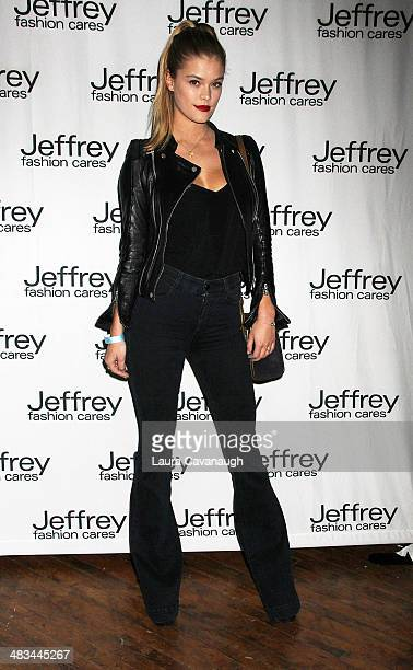 Nina Agdal attends Jeffrey Fashion Cares 2014 at the 69th Regiment Armory on April 8 2014 in New York City