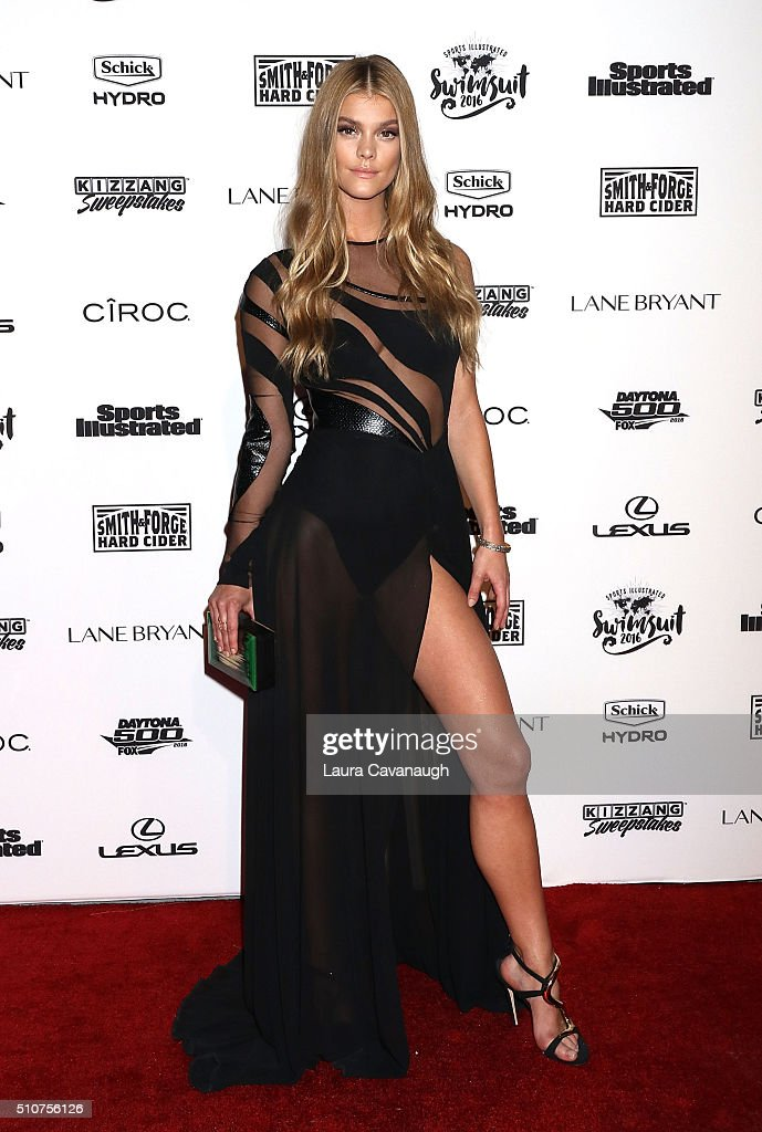 Nina Agdal attends Sports Illustrated Celebrates Swimsuit 2016 at Brookfield Place on February 16, 2016 in New York City.