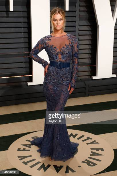 Nina Agdal attends the 2017 Vanity Fair Oscar Party at Wallis Annenberg Center for the Performing Arts on February 26 2017 in Beverly Hills California