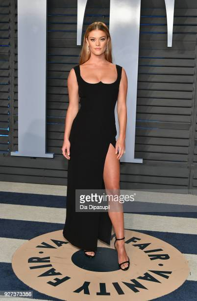 Nina Agdal attends the 2018 Vanity Fair Oscar Party hosted by Radhika Jones at Wallis Annenberg Center for the Performing Arts on March 4 2018 in...