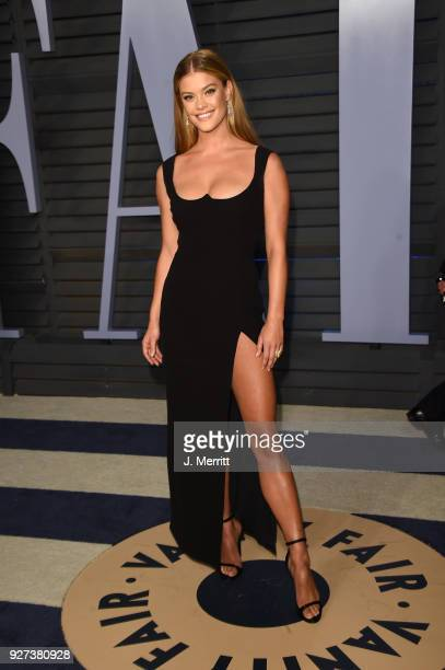 Nina Agdal attends the 2018 Vanity Fair Oscar Party hosted by Radhika Jones at the Wallis Annenberg Center for the Performing Arts on March 4 2018 in...