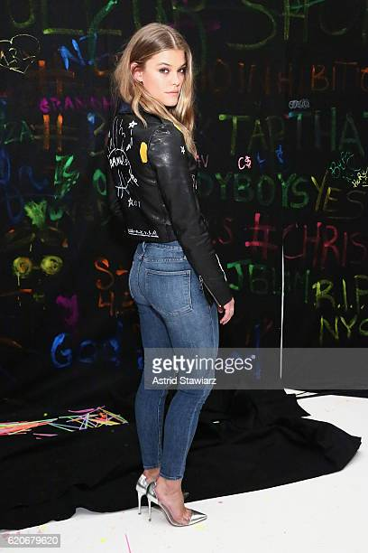 Nina Agdal attends the alice olivia x Basquiat CFDA Capsule Collection launch party on November 2 2016 in New York City