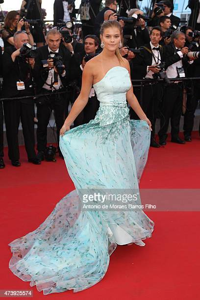Nina Agdal attends the 'Inside Out' premiere during the 68th annual Cannes Film Festival on May 18 2015 in Cannes France