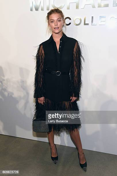 Nina Agdal attends the Michael Kors Spring 2017 Runway Show during New York fashion week at Spring Studios on September 14 2016 in New York City