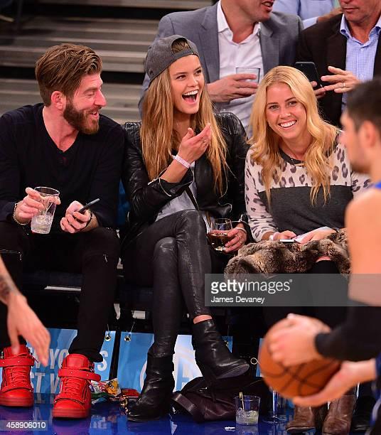 Nina Agdal attends the Orlando Magic vs New York Knicks game at Madison Square Garden on November 12 2014 in New York City