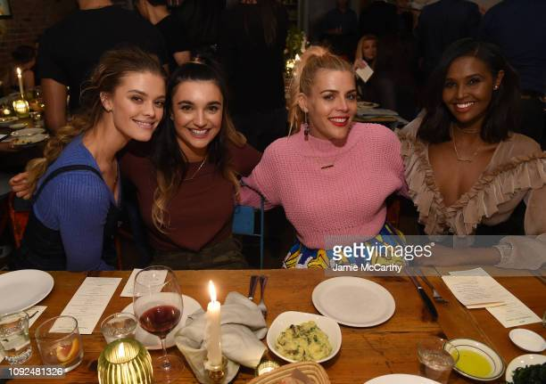 Nina Agdal Brenna Huckabyl Busy Phillips and Ubah Hassan attend Aerie Celebrates #AerieREAL Role Models In NYC on January 31 2019 in New York City