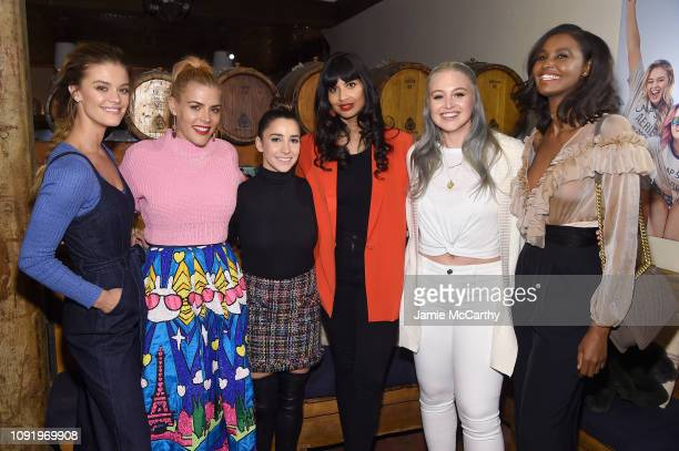 Nina Agdal Busy Phillips Aly Raisman Jameela Jamil Iskra Lawrence and Ubah Hassan attend as Aerie celebrates #AerieREAL Role Models in NYC on January...