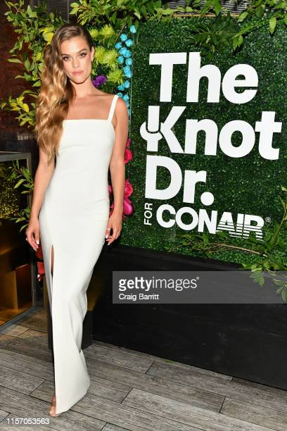 """Nina Agdal celebrates """"KnotARealWedding"""" in honor of Conair's The Knot Dr Detangling Brush in New York City"""