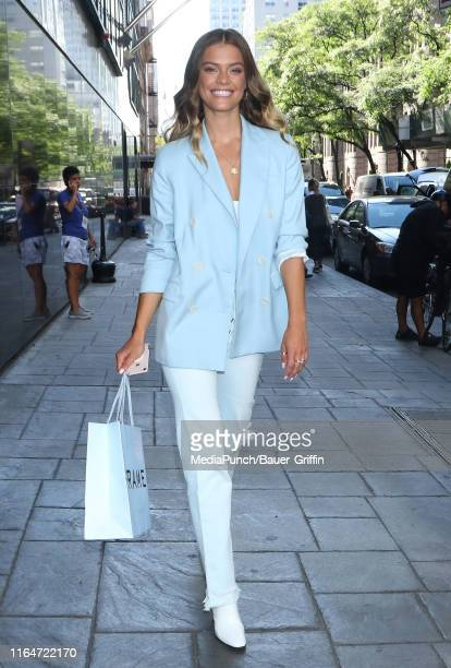 Nina Agdal is seen on August 29, 2019 in New York City.