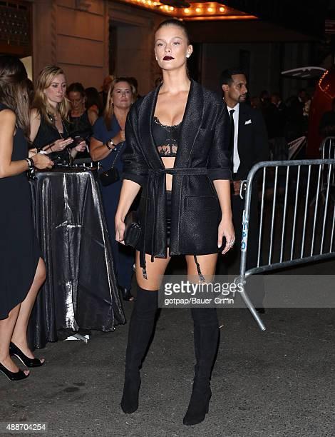 Nina Agdal is seen on September 16 2015 in New York City