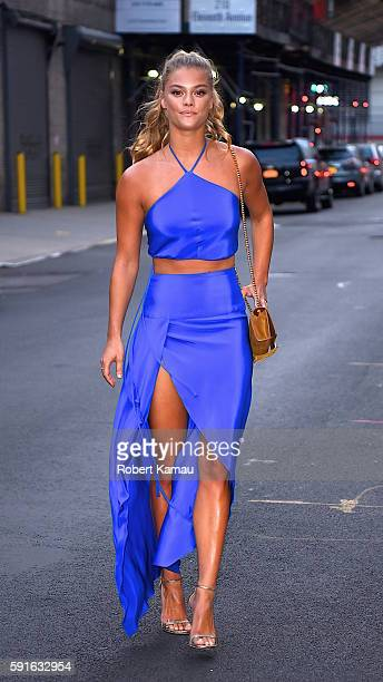 Nina Agdal seen in Chelsea for a W Dubai event on August 17 2016 in New York City