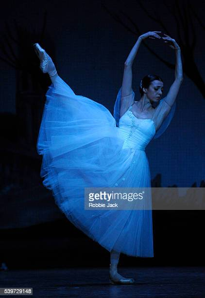 """Nina Ananiashvili performs in the State Ballet of Georgia's production of """"Giselle"""" at the Edinburgh Playhouse."""