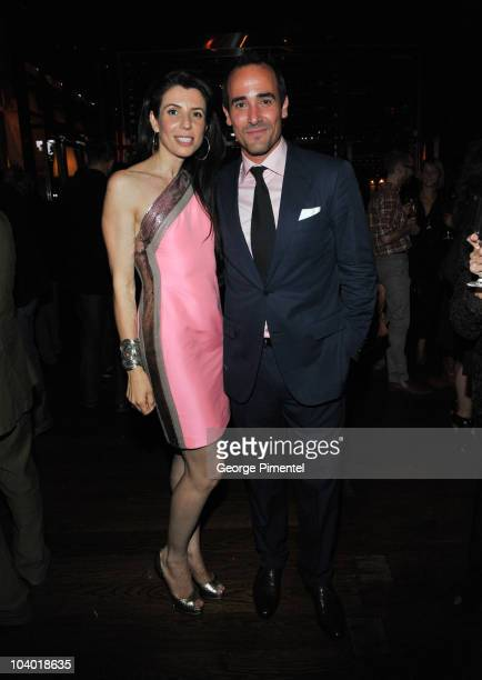 Nina and David Rocco attend the YSL after party at Victor Restaurant Le Germain Hotel during the 35th Toronto International Film Festival on...