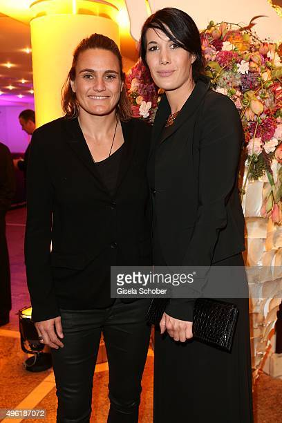 Nina Angerer and her partner Magda during the German Sports Media Ball at Alte Oper on November 7 2015 in Frankfurt am Main Germany