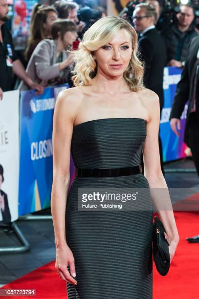 Nina Arianda attends the World Premiere of 'Stan & Ollie' at Cineworld, Leicester Square, during the 62nd London Film Festival Closing Night Gala....