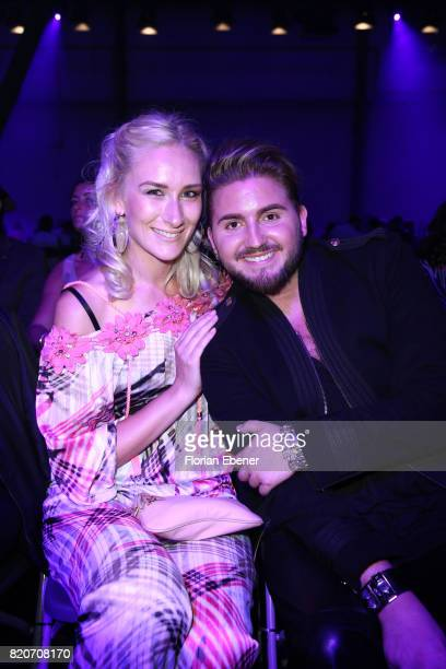 Nina Bauer and Justus Toussis attend the 3D Fashion Presented By Lexus/Voxelworld show during Platform Fashion July 2017 at Areal Boehler on July 22,...