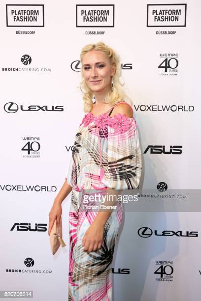 Nina Bauer attends the 3D Fashion Presented By Lexus/Voxelworld show during Platform Fashion July 2017 at Areal Boehler on July 22, 2017 in...