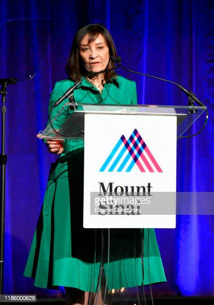 Nina Bhardwaj speaks onstage during 2019 Mount Sinai Prostate Cancer Research Gala at Cipriani 42nd Street on November 06 2019 in New York City