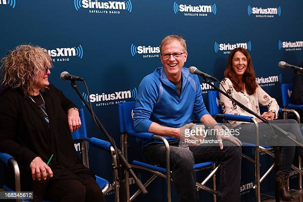 Nina Blackwood Alan Hunter and Martha Quinn attend SiriusXM's Town Hall With the Original MTV VJs at SiriusXM Studios on May 8 2013 in New York City