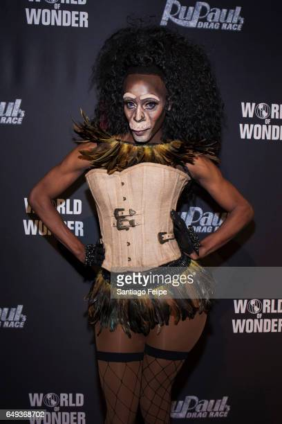 Nina Bo' Nina Brown attends RuPaul's Drag Race Season 9 Premiere Party Meet The Queens Event at PlayStation Theater on March 7 2017 in New York City