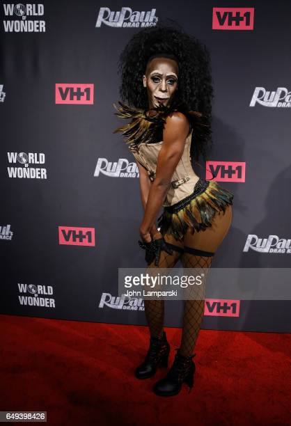 Nina Bo Nina Brown attends RuPaul's Drag Race season 9 premiere party meet The Queens Event at PlayStation Theater on March 7 2017 in New York City