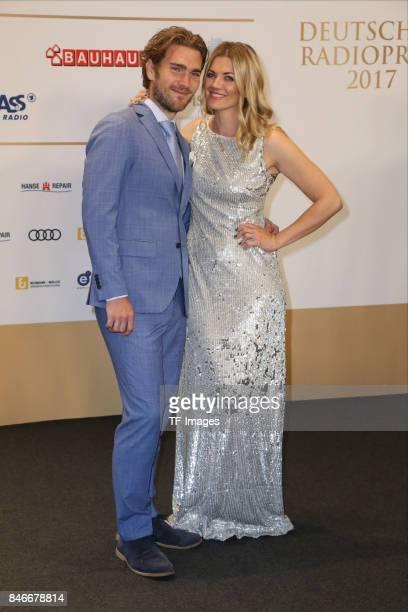 Nina Bott and and Benjamin Baarz attend the Deutscher Radiopreis at Elbphilharmonie on September 7 2017 in Hamburg Germany 'n