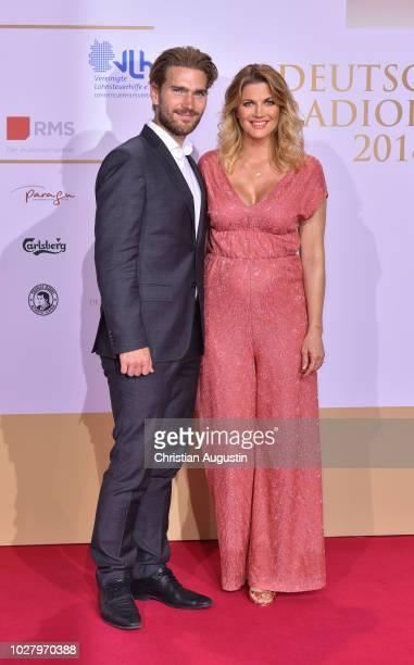 Nina Bott and Benjamin Baarz attend the Deutscher Radiopreis at Schuppen 52 on September 6 2018 in Hamburg Germany