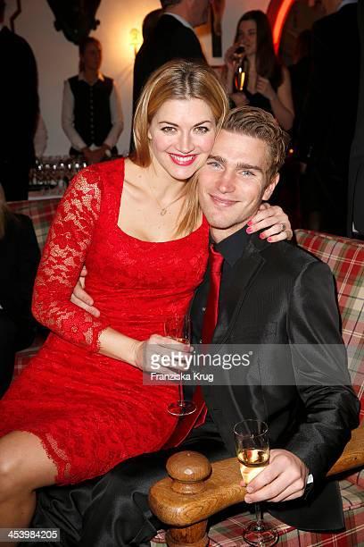 Nina Bott and Benjamin Baarz attend the Gala Dinner At Kuehtai Castle Tirol Cross Mountain 2013 on December 06 2013 in Innsbruck Austria