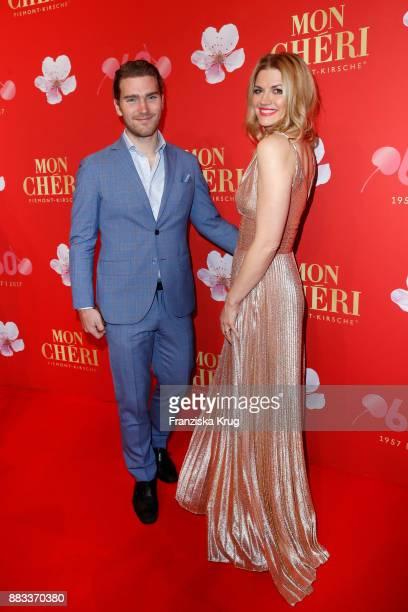 Nina Bott and Benjamin Baarz attend the Mon Cheri Barbara Tag 2017 at Postpalast on November 30 2017 in Munich Germany
