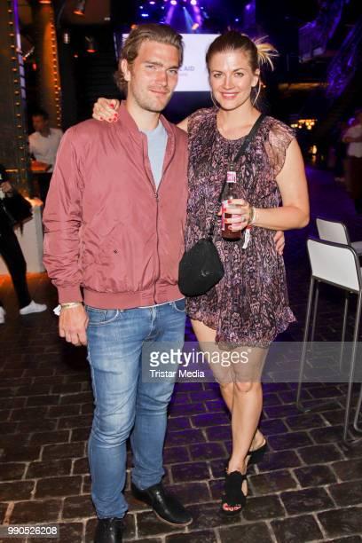 Nina Bott and Benjamin Baarz during the Channel Aid concert on July 2 2018 in Hamburg Germany