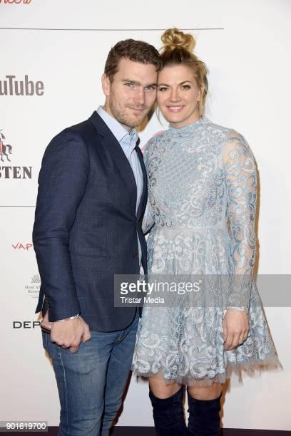 Nina Bott and her boyfriend Benjamin Baarz attend the Channel Aid Concert at Elbphilharmonie on January 5 2018 in Hamburg Germany