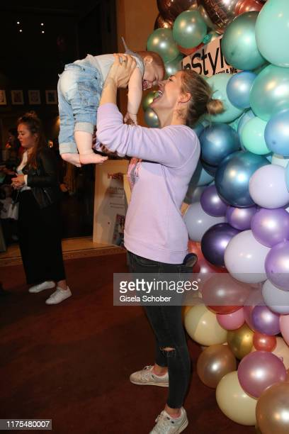 Nina Bott and her son Lino during the InStyle Mini Me Lounge at Hotel Bayerischer Hof on October 12 2019 in Munich Germany