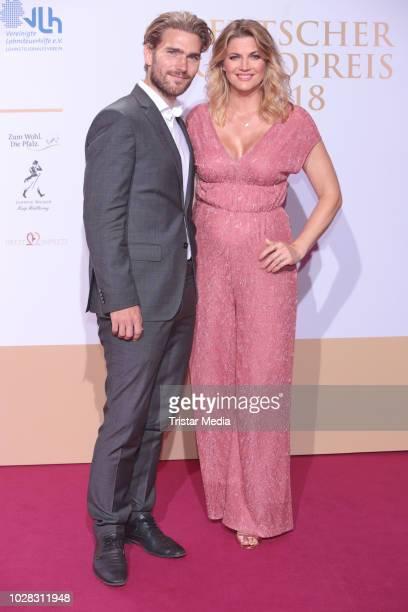 Nina Bott and Sebastian Baarz attend the Deutscher Radiopreis at Schuppen 52 on September 6 2018 in Hamburg Germany