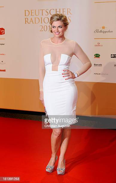 Nina Bott attends Deutscher Radiopreis 2012 at Schuppen 52 on September 6 2012 in Hamburg Germany