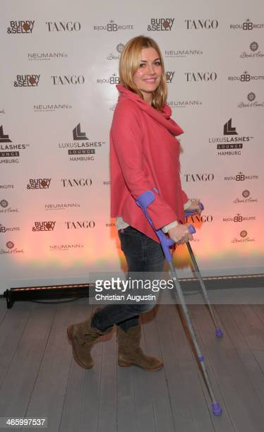 Nina Bott attends opening of the first LuxusLashes Lounge in Hamburg on January 30 2014 in Hamburg Germany