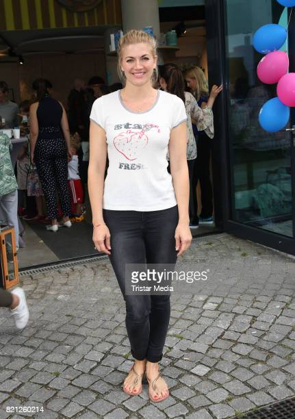 Nina Bott attends the 2nd birthday of Playbrush with the nwe toothbrush launch on July 23 2017 in Hamburg Germany
