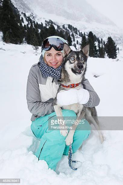 Nina Bott attends the Sledge Dog Race Training Tirol Cross Mountain 2013 on December 06 2013 in Innsbruck Austria