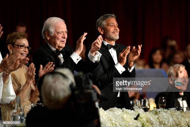 Nina Bruce Warren Nick Clooney and honoree George Clooney attend the American Film Institute's 46th Life Achievement Award Gala Tribute to George...