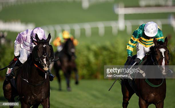 Nina Carberry riding Josies Orders clear the last to win The Glenfarclas Cross Country Steeple Chase at Cheltenham racecourse on November 13 2015 in...